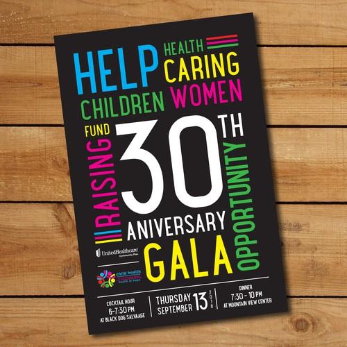 Invitation for a 30th Anniversary Gala