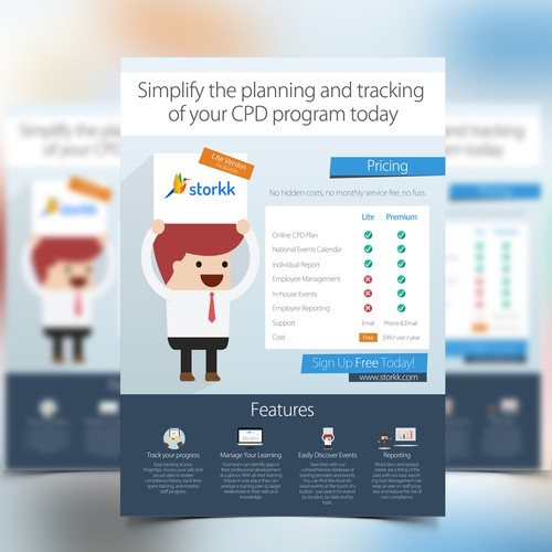 Create a flyer for a startup