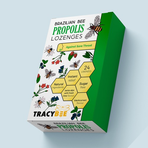 Propolis Lozenges Packing Design