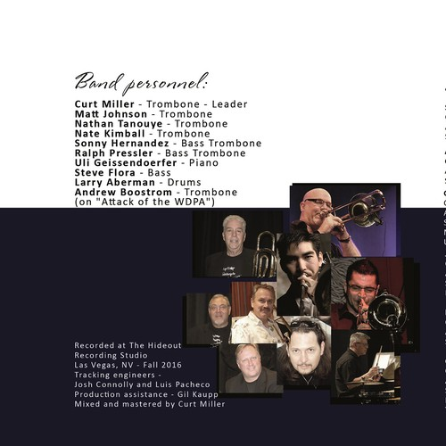 CD cover design for Jazz Band