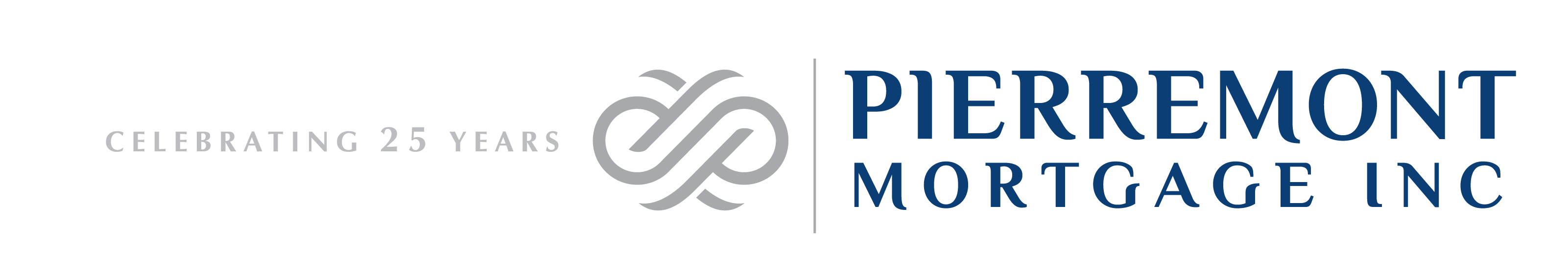 Create an innovative new image for Pierremont Mortgage, Inc. emphasizing 25 years in business