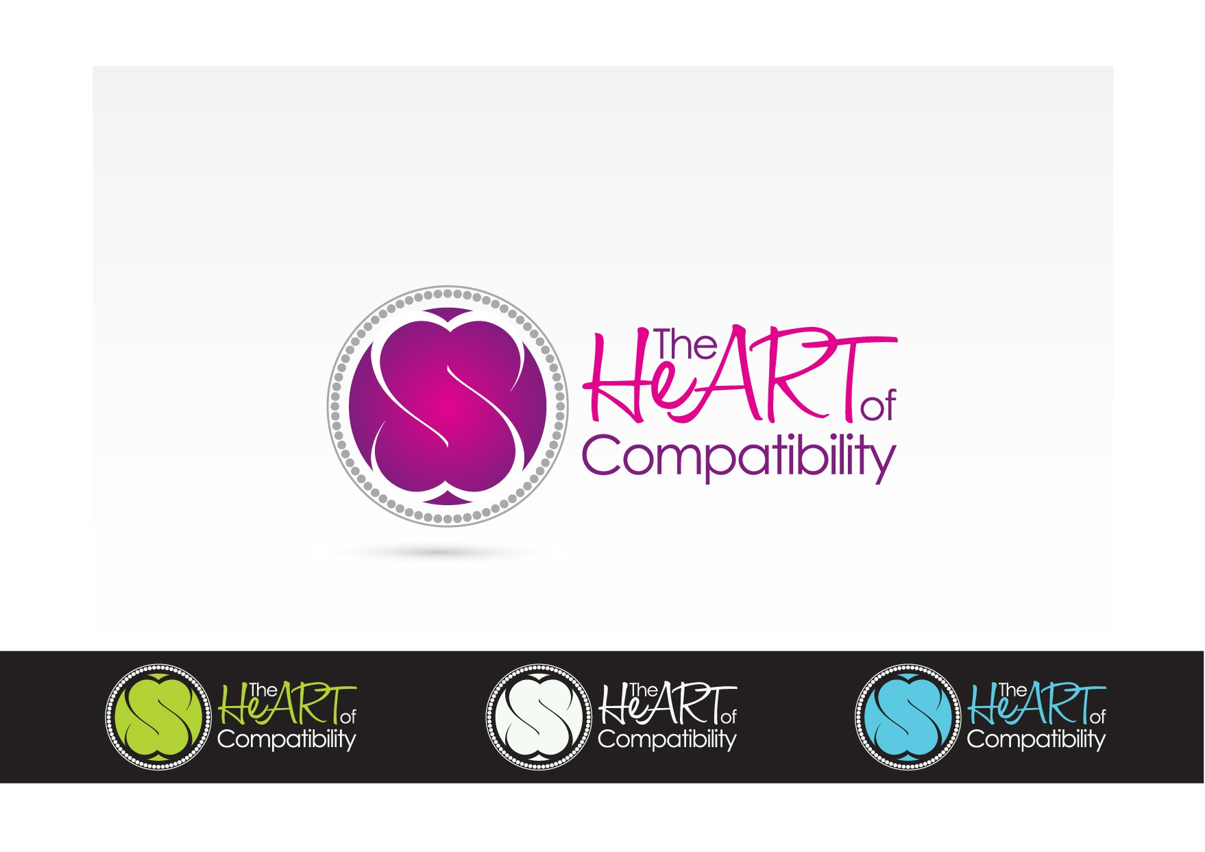 Create the first logo for The Heart of Compatibility
