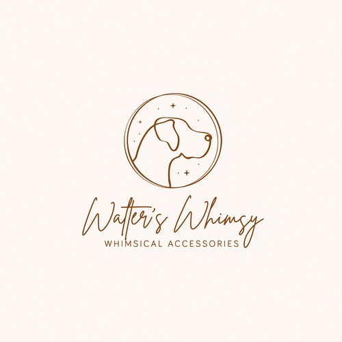 Whimsical logo for whimsical accessories shop