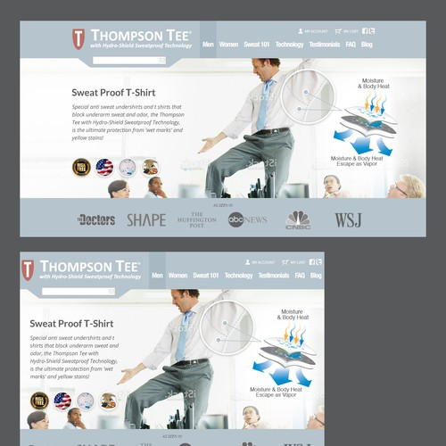 Create slider banner for Thompsontee.com
