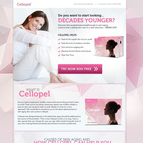 Feminine and made for conversion landing page design