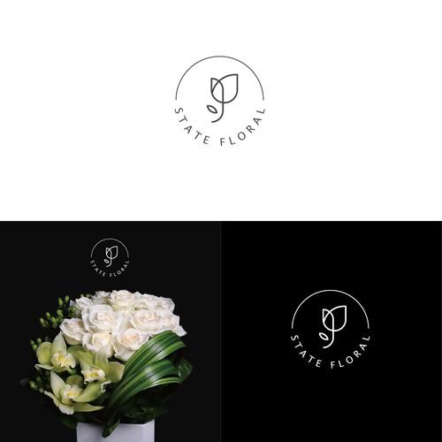 Elegant logo for a floral