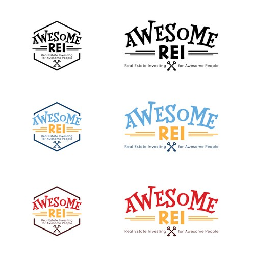 Fun and awesome logo for real estate investing
