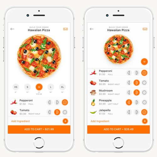 iOS Pizza Ordering App
