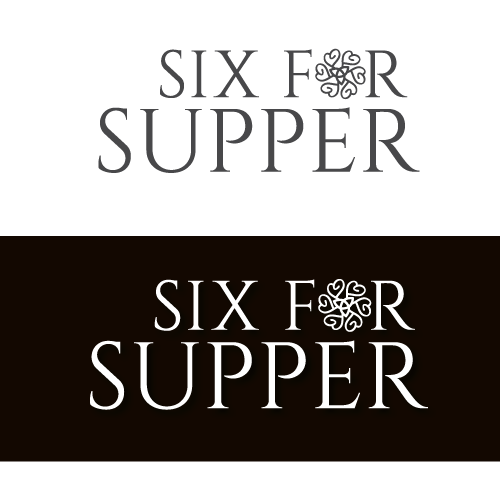 """Logo for unique start-up dating company - """"Six for Supper"""""""