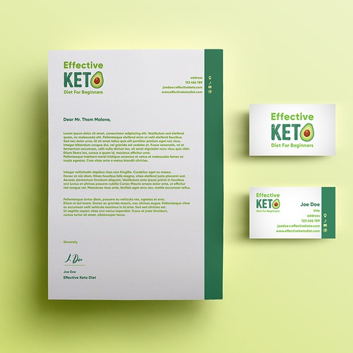 Effective KETO Diet_logo+letterhead+businesscard