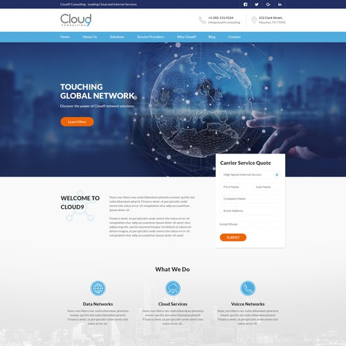 Clean and Modern Cloud Consulting Website
