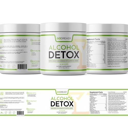 Label design for greens juice supplement