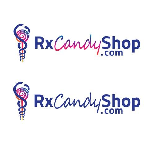 elegant logo for RxCandyshop