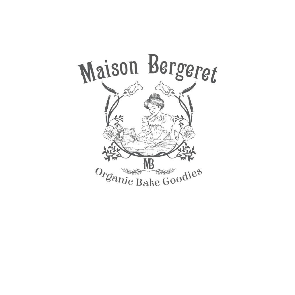 disigne a vintage logo for organic baking goods