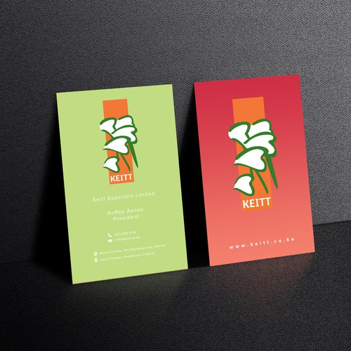 Exporter need a trendy business card