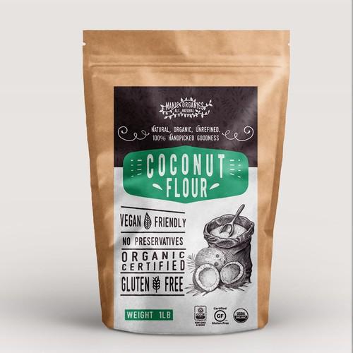 label coconut flour