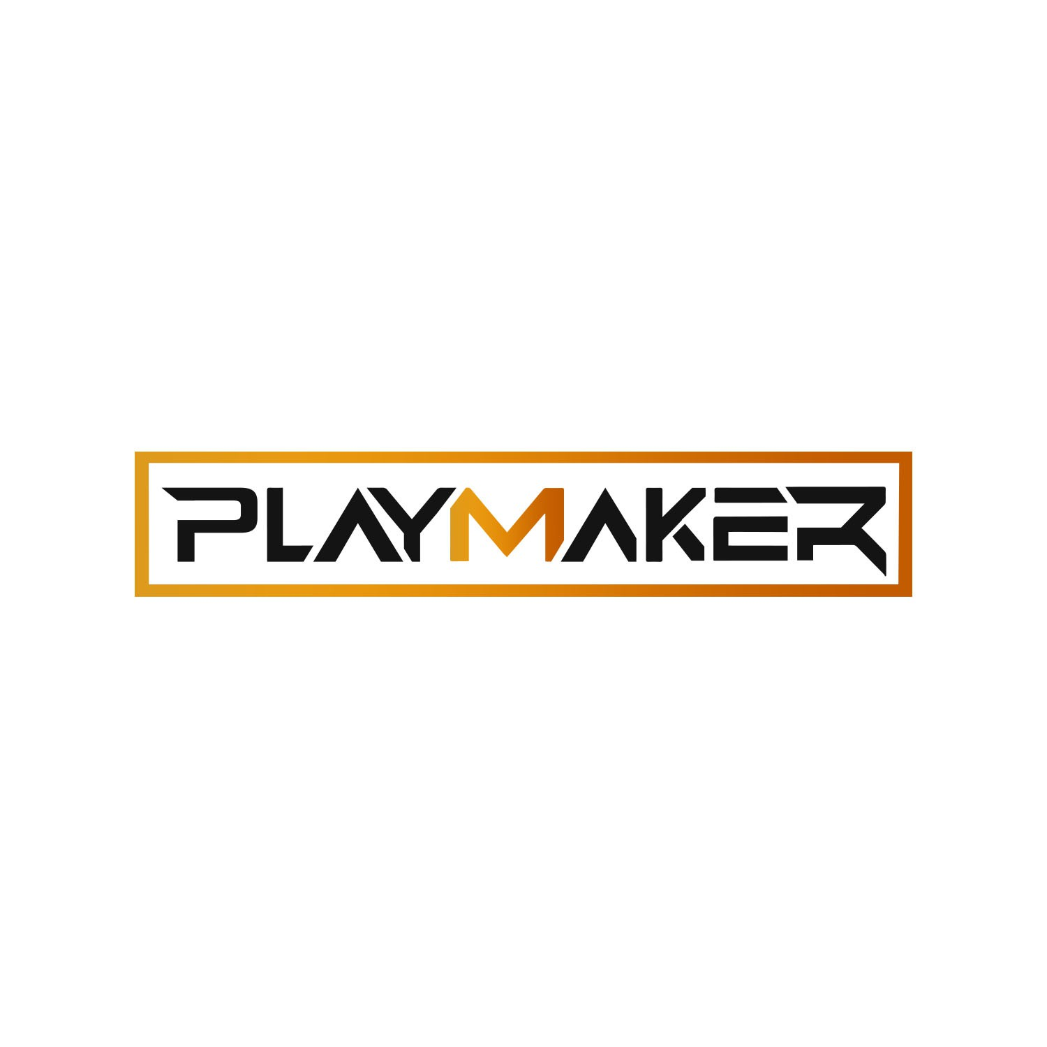"""""""Playmaker needs a powerful bold word mark for top performing athletes"""""""
