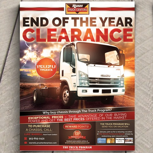 Isuzu trucks flyer