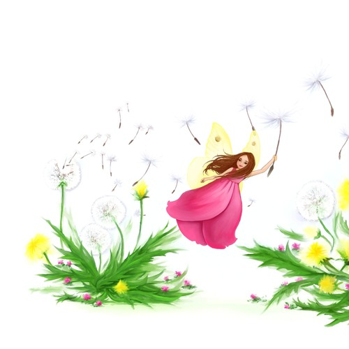 DRAW or PAINT our beautiful fairy character and her dandelion garden