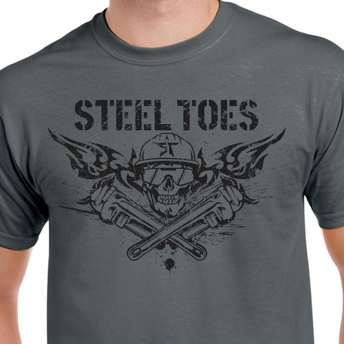 T shirt design for Steel Toes