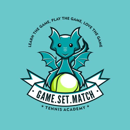Funny Dragon Character Logo