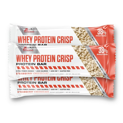 Clean and practical design for new crisp protein bar