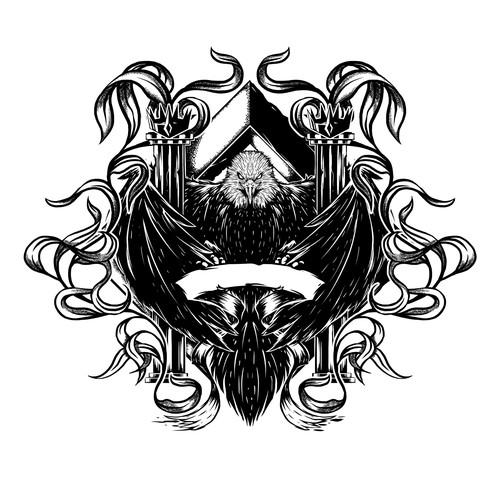 Black n White Eagle Art