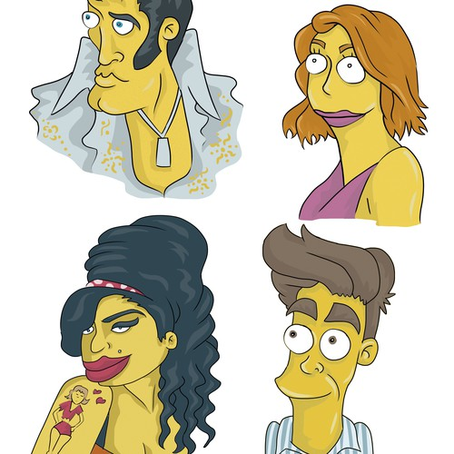 simpsons style characters1