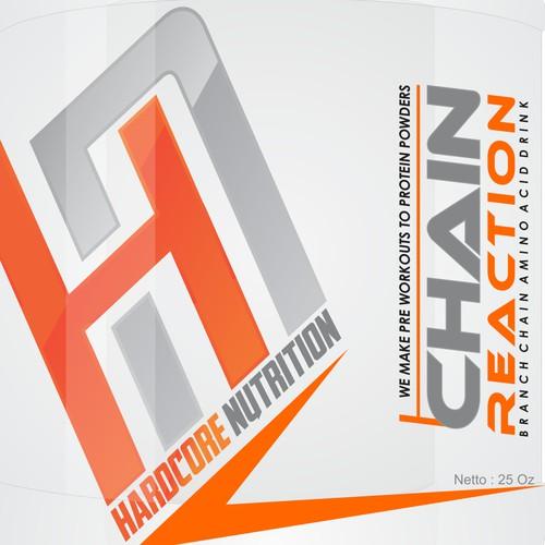 Supplement company label design