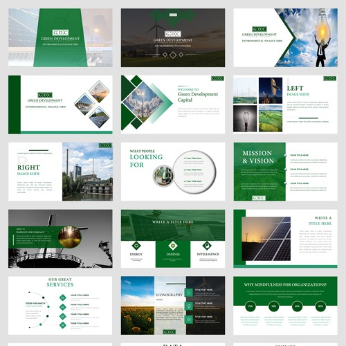 Powerpoint design for environmental finance firm