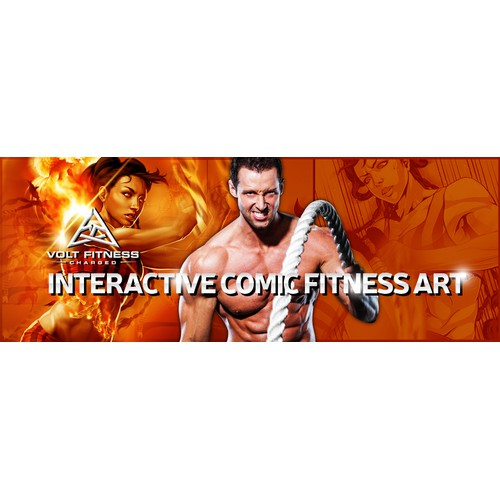 "Get creative, go 3D capture our comic fitness art where ""imagination has no limitations"""