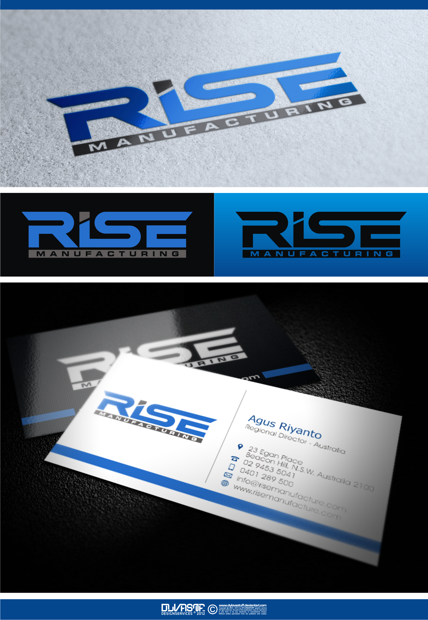 Help make an awesome logo for Rise Manufacturing