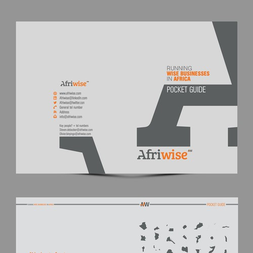 "Promotional Modern 'Fun' Small Booklet for consultancy firm Afriwise (""streetwise in Africa"")"