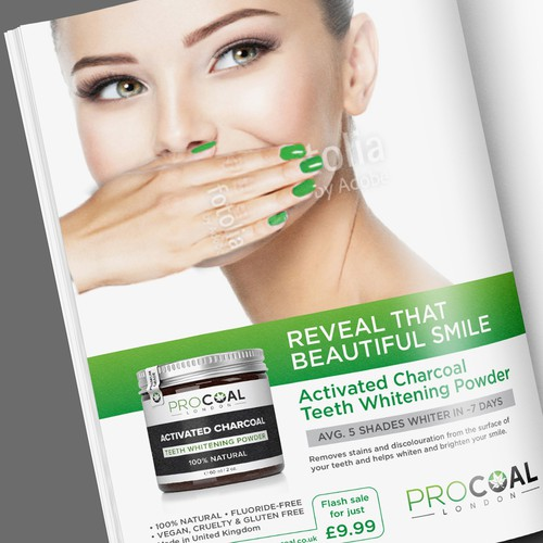 Magazine Ad for Teeth Whitening Powder