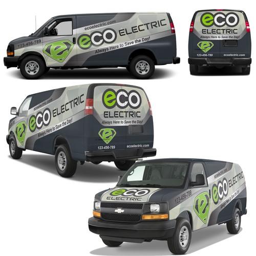 Van wrap design Eco please read describe section