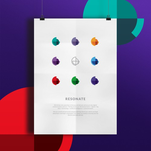 Vivid and colorful logo for Resonate