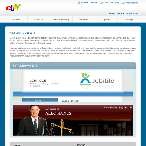 Need eBay listing template for turnkey websites