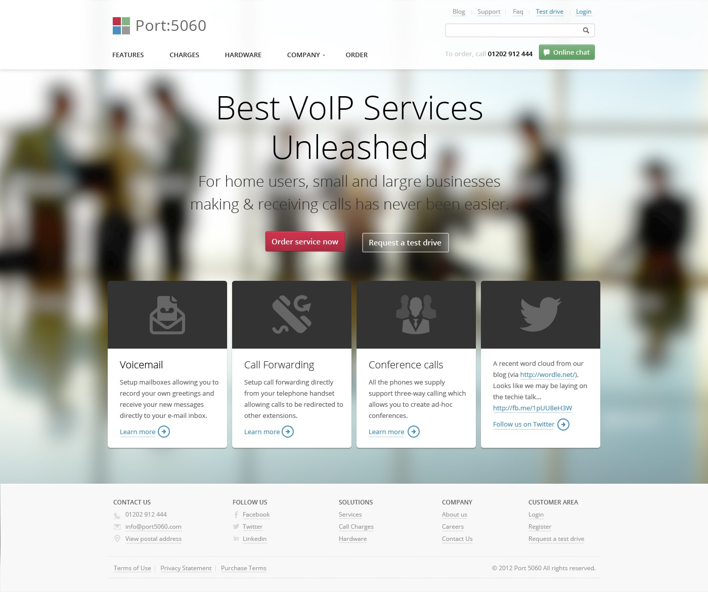 Website design for new VoIP brand