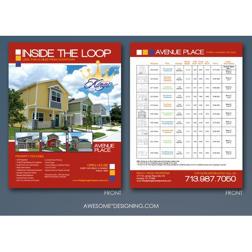 Need Real Estate Flyer Designed for New Development