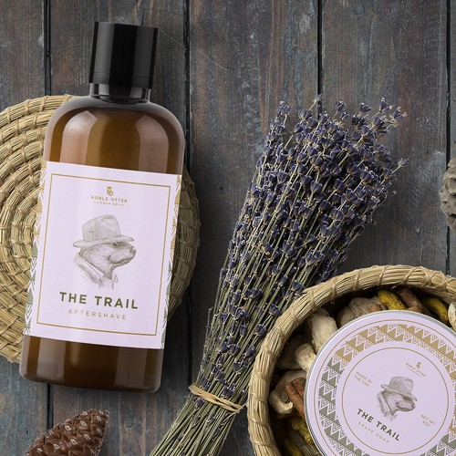 Adventurous otter for The Trail aftershave and shave soap