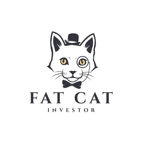 logo concept for Fat cat.