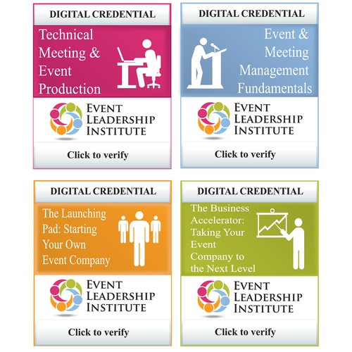 Create an online badge credential for the Event Leadership Institute