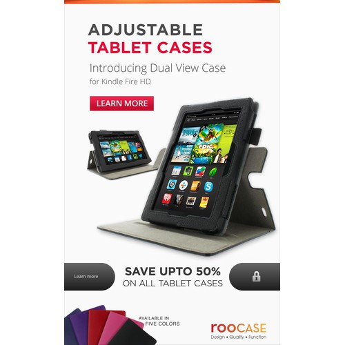 Create a banner ad to be displayed on Amazon Kindle Tablet with Special Offers