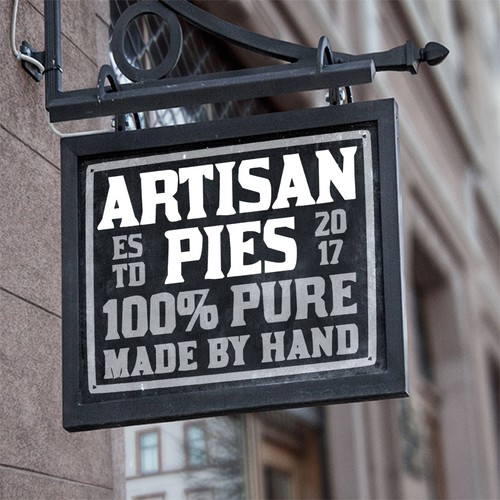 logo for Artisan Pies made by hand