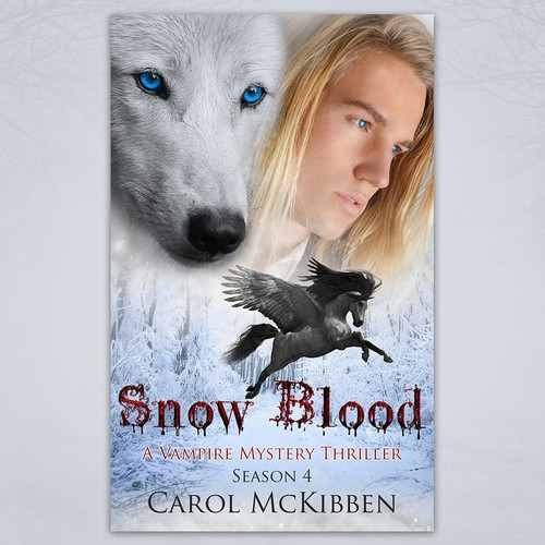 Snow Blood Book Cover Design
