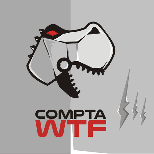 A dinosaur logo for an IT freelance accounting company! Accounting not boring!