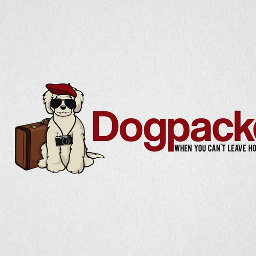Fido wants to go!  DOGPACKED.com Logo Design Contest