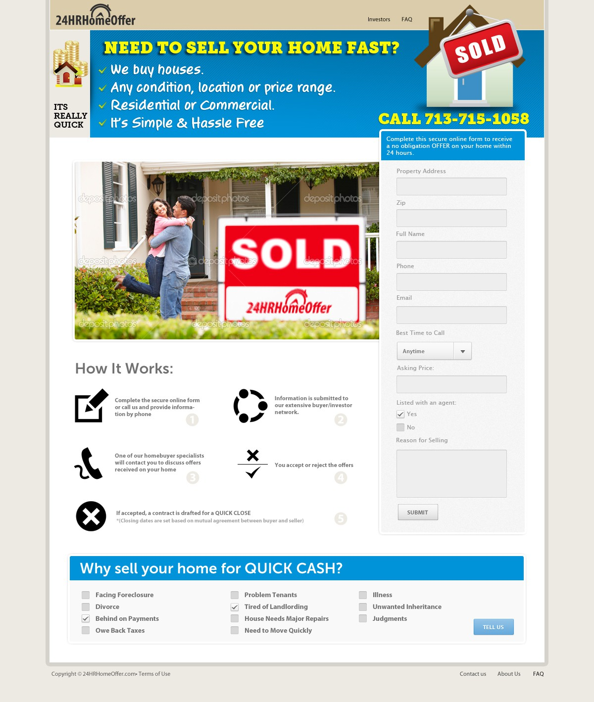 Need Landing Page/website designed for Real Estate Investment Site
