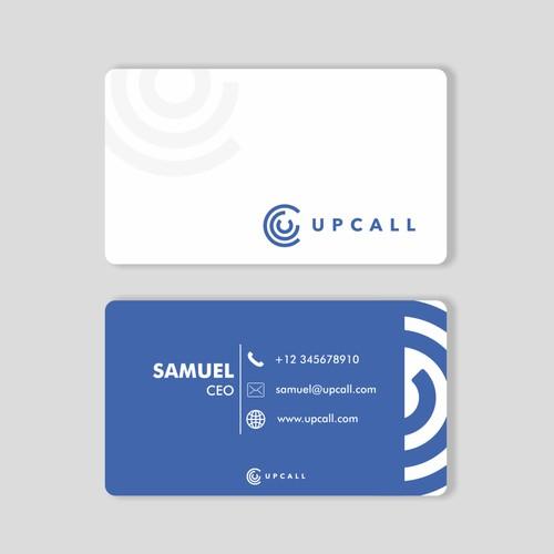 Upcall Business design card 2
