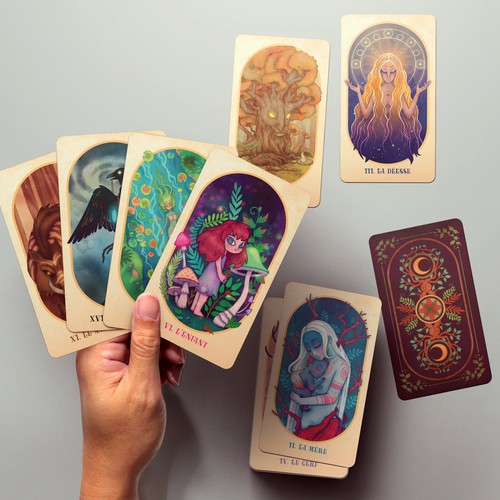 Nature oracle deck design